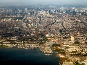 Jakarta from the sky