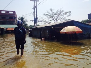 Floodwater in Poipet